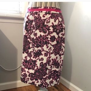 Boden Pink and White Skirt